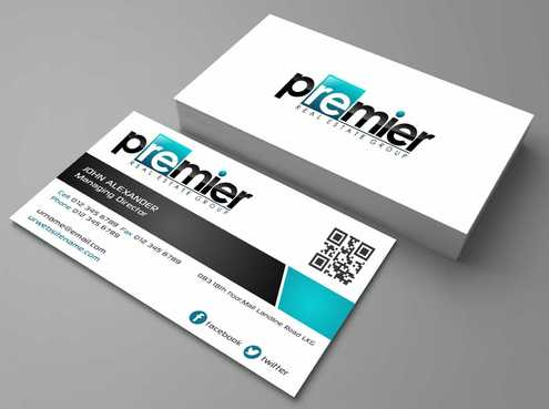 Premier Real Estate Group Business Cards and Stationery  Draft # 129 by Dawson