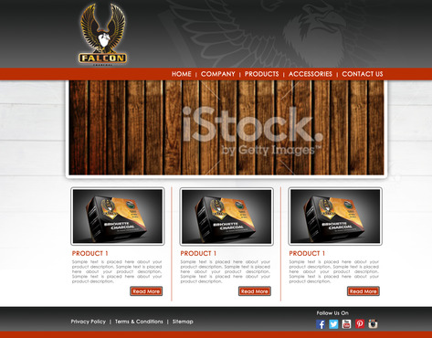 FALCON CHARCOAL Complete Web Design Solution  Draft # 243 by nastemp