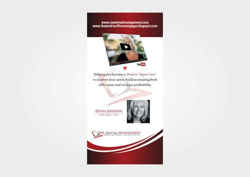 6ft Vertical Banner for Tradeshow Marketing collateral  Draft # 25 by KenArrok