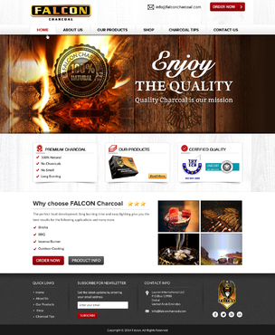 FALCON CHARCOAL Complete Web Design Solution Winning Design by itmech