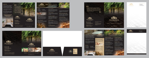 Trifold Pamphlet, A4 Brochure, Presentation Folder, Full, 1/2,1/4 page ad, Letterhead, Business Card
