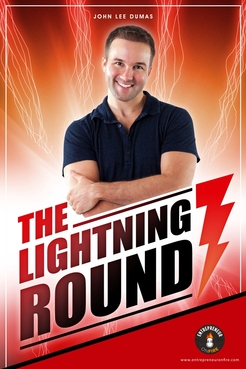 The Lightning Round Marketing collateral Winning Design by erobepro