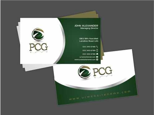 PCG Cards Business Cards and Stationery  Draft # 293 by Dawson
