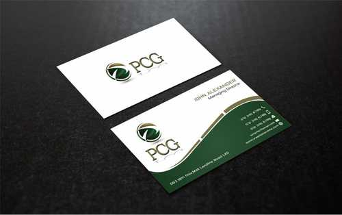 PCG Cards Business Cards and Stationery  Draft # 306 by Dawson