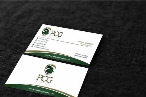 PCG Cards Business Cards and Stationery  Draft # 310 by Dawson