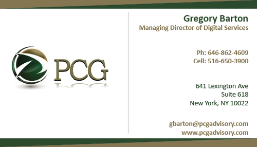 PCG Cards Business Cards and Stationery  Draft # 312 by swarnimGraphics