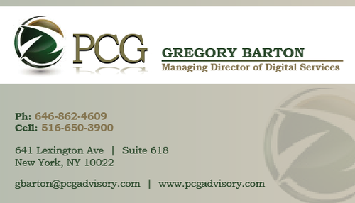 PCG Cards Business Cards and Stationery  Draft # 315 by swarnimGraphics