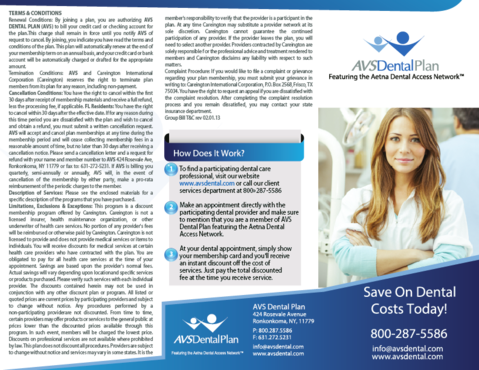 AVS Dental Plan Marketing collateral  Draft # 17 by ramazi