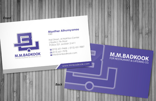 M.M.Badkook for Restaurant & Catering Co. Business Cards and Stationery  Draft # 3 by sevensky