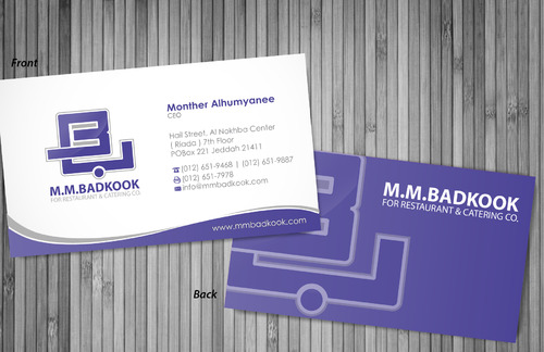 M.M.Badkook for Restaurant & Catering Co. Business Cards and Stationery  Draft # 17 by sevensky