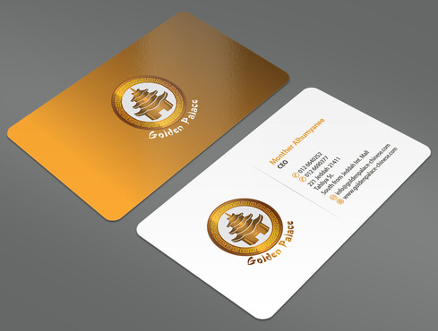 Golden Palace Restaurant Business Cards and Stationery  Draft # 1 by ArtworksKingdom