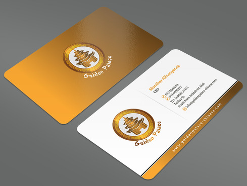 Golden Palace Restaurant Business Cards and Stationery  Draft # 5 by ArtworksKingdom
