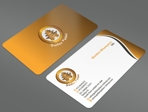 Golden Palace Restaurant Business Cards and Stationery  Draft # 22 by ArtworksKingdom