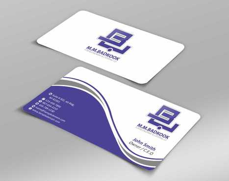 M.M.Badkook for Restaurant & Catering Co. Business Cards and Stationery  Draft # 159 by Dawson