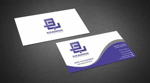 M.M.Badkook for Restaurant & Catering Co. Business Cards and Stationery  Draft # 161 by Dawson