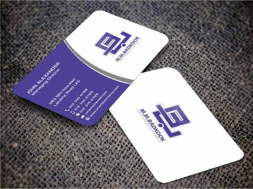 M.M.Badkook for Restaurant & Catering Co. Business Cards and Stationery  Draft # 163 by Dawson
