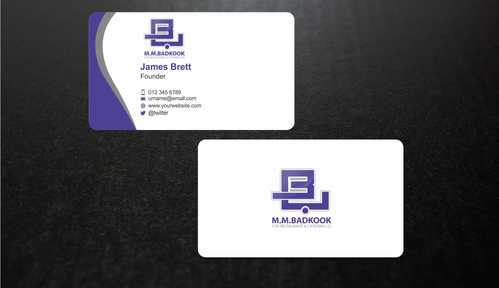 M.M.Badkook for Restaurant & Catering Co. Business Cards and Stationery  Draft # 172 by Dawson
