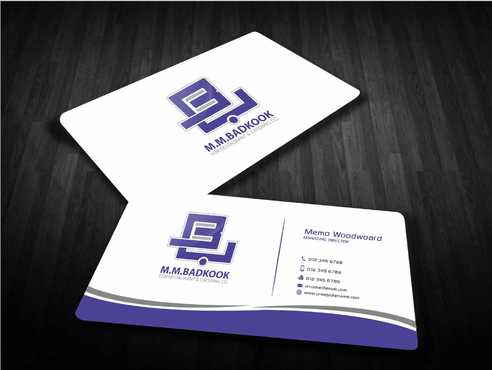 M.M.Badkook for Restaurant & Catering Co. Business Cards and Stationery  Draft # 173 by Dawson
