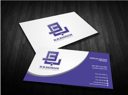 M.M.Badkook for Restaurant & Catering Co. Business Cards and Stationery  Draft # 175 by Dawson