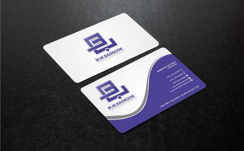 M.M.Badkook for Restaurant & Catering Co. Business Cards and Stationery  Draft # 177 by Dawson