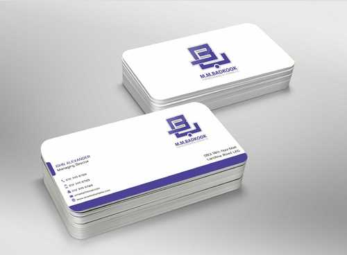 M.M.Badkook for Restaurant & Catering Co. Business Cards and Stationery  Draft # 179 by Dawson