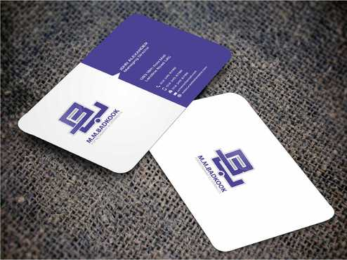 M.M.Badkook for Restaurant & Catering Co. Business Cards and Stationery  Draft # 180 by Dawson