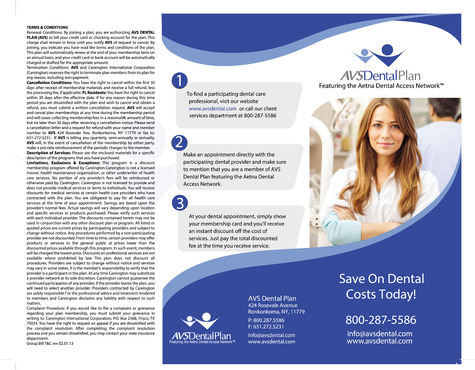AVS Dental Plan Marketing collateral  Draft # 30 by goldentouch