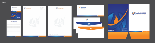 Advanced Foundation Business Cards and Stationery  Draft # 1 by Xpert