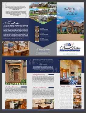 David Patton Construction LLC Marketing collateral  Draft # 37 by destudio