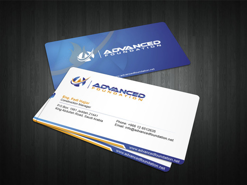 Advanced Foundation Business Cards and Stationery  Draft # 3 by i3designer