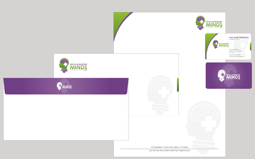 Medical Management Minds, LLC Business Cards and Stationery  Draft # 11 by AxeDesign