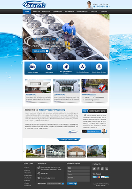 Titan Pressure Washing Complete Web Design Solution  Draft # 42 by 4bdesign