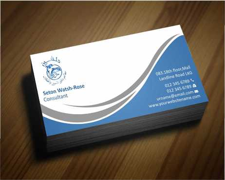 Dolphin Catering Business Cards and Stationery  Draft # 194 by Dawson