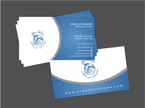 Dolphin Catering Business Cards and Stationery  Draft # 211 by Dawson