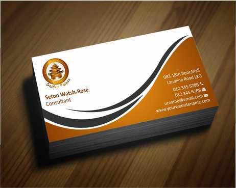 Golden Palace Restaurant Business Cards and Stationery  Draft # 217 by Dawson