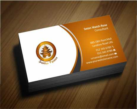 Golden Palace Restaurant Business Cards and Stationery  Draft # 218 by Dawson