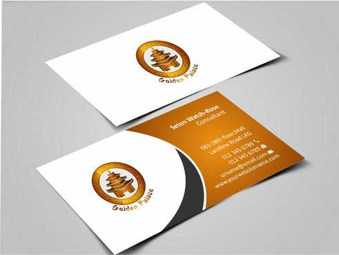 Golden Palace Restaurant Business Cards and Stationery  Draft # 219 by Dawson