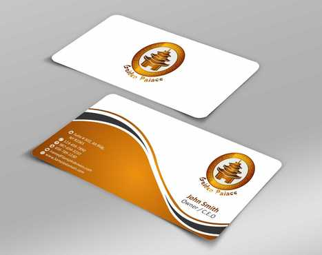 Golden Palace Restaurant Business Cards and Stationery  Draft # 222 by Dawson