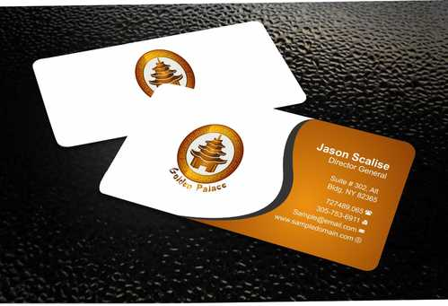 Golden Palace Restaurant Business Cards and Stationery  Draft # 223 by Dawson