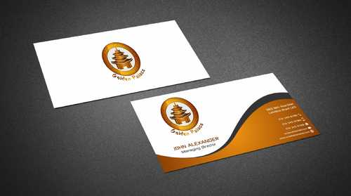 Golden Palace Restaurant Business Cards and Stationery  Draft # 224 by Dawson