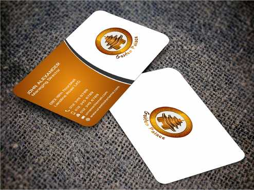 Golden Palace Restaurant Business Cards and Stationery  Draft # 226 by Dawson