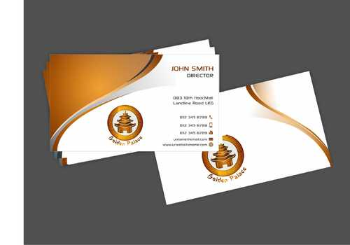 Golden Palace Restaurant Business Cards and Stationery  Draft # 228 by Dawson