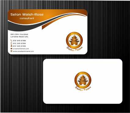 Golden Palace Restaurant Business Cards and Stationery  Draft # 229 by Dawson