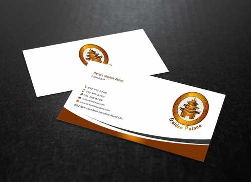 Golden Palace Restaurant Business Cards and Stationery  Draft # 230 by Dawson