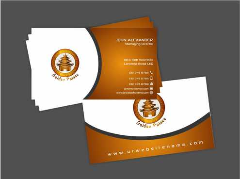 Golden Palace Restaurant Business Cards and Stationery  Draft # 235 by Dawson