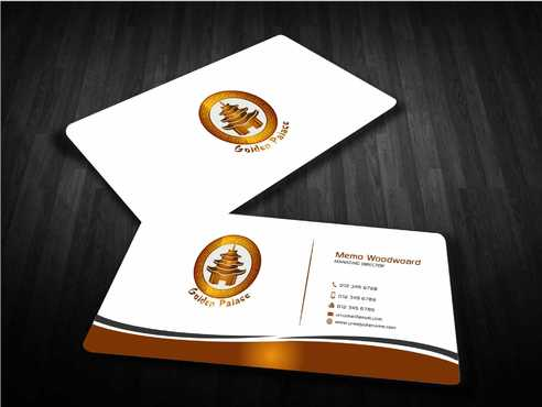 Golden Palace Restaurant Business Cards and Stationery  Draft # 238 by Dawson