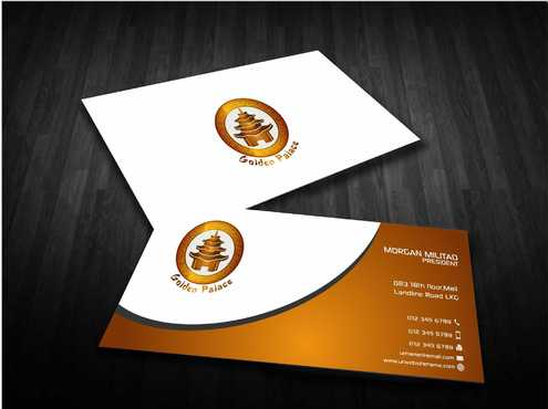 Golden Palace Restaurant Business Cards and Stationery  Draft # 240 by Dawson