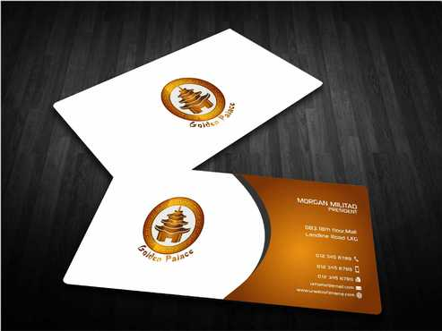 Golden Palace Restaurant Business Cards and Stationery  Draft # 241 by Dawson