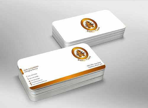 Golden Palace Restaurant Business Cards and Stationery  Draft # 244 by Dawson