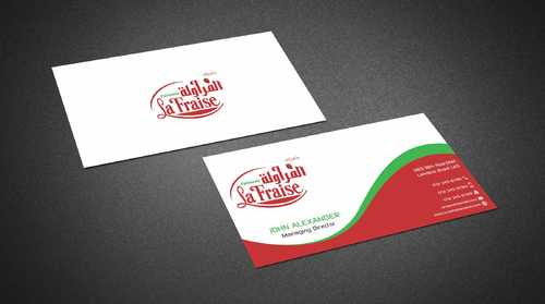 La Fraise Patisserie Business Cards and Stationery  Draft # 334 by Dawson